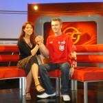 With host Monica Lierhaus at the NDR-Sportclub