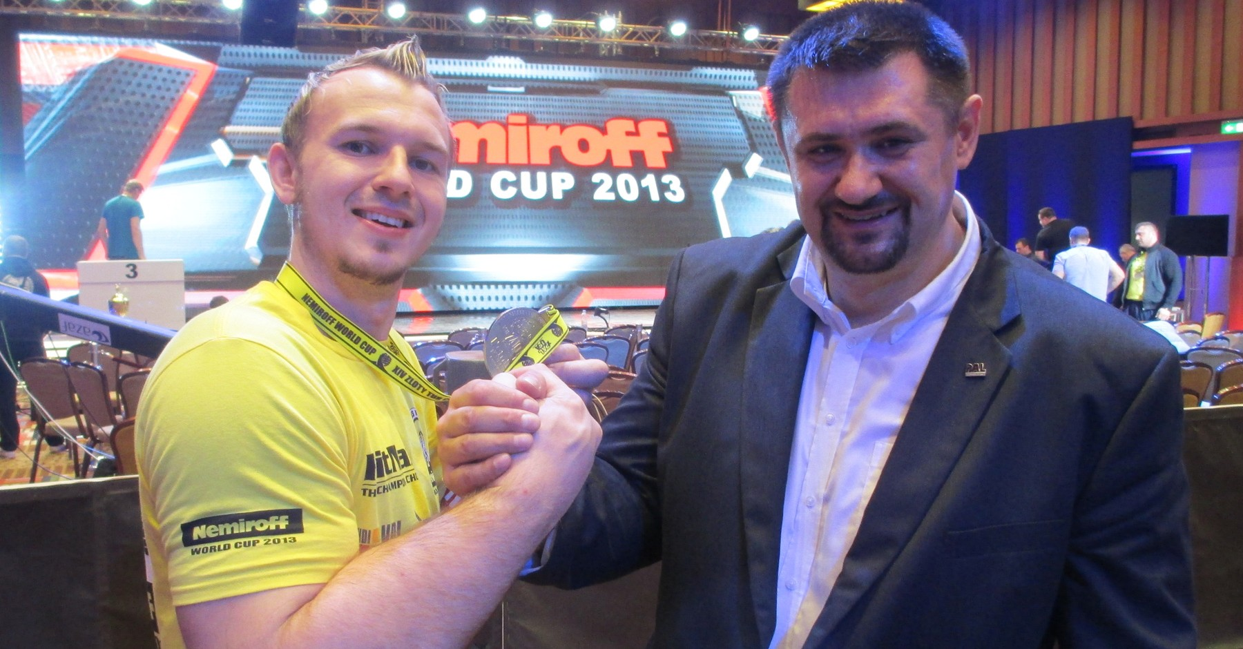 WorldCup 2013 - Schlitte and host Igor Mazurenko