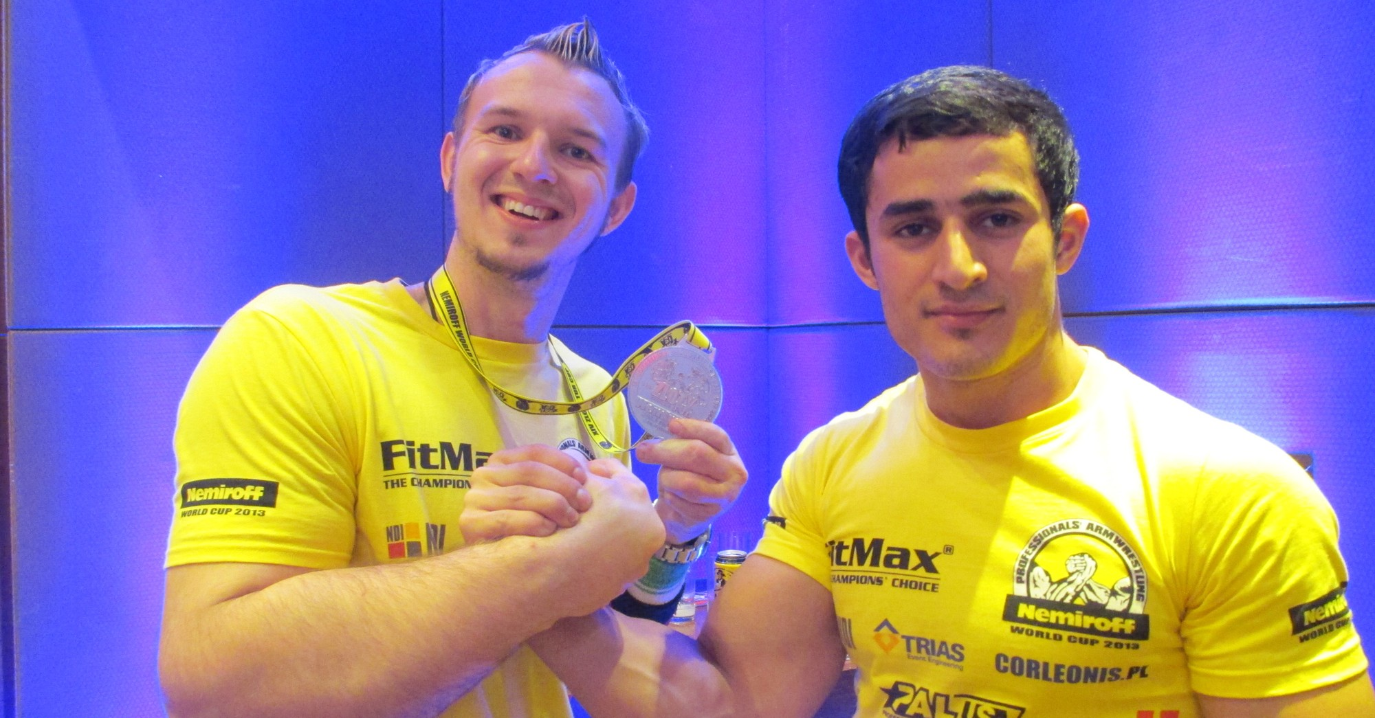 WorldCup 2013 - Schlitte and World Champion Farasov