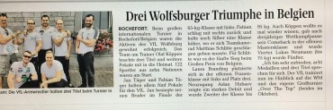 Newspaper about the international tournament in Belgium: Three titles for the VfL Wolfsburg