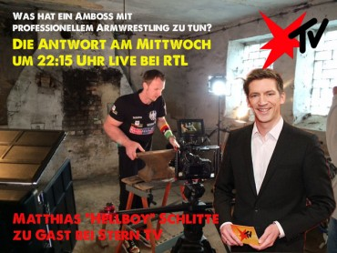 Mittwoch um 22.15 uhr live bei Stern TV auf RTL