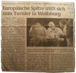 Over the Top 2007 - Nachbericht - Volksstimme 14.09.2007