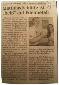 Deutsche Meisterschaft 2007 - Vorbericht - Volksstimme - 29.03.2007