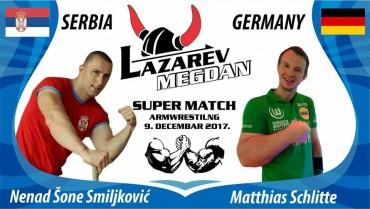 Supermatch über 5 Runden gegen den serbischen Champion Nenad Smiljkovic